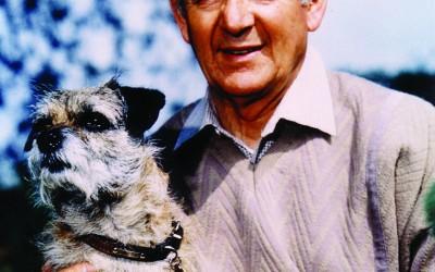 Alf Wight (James Herriot) & dog